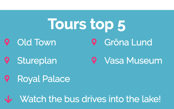 Ocean Bus Tours top 5
